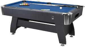 BILLARD type PRO 6 Ft, Noir, 3 coloris de tapis