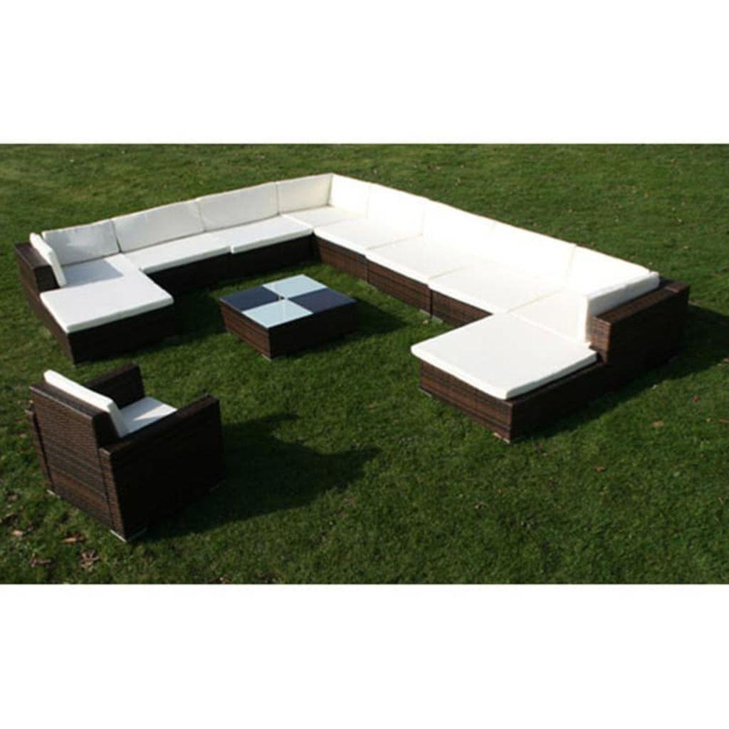 salon canap de jardin en r sine tress e 12 personnes. Black Bedroom Furniture Sets. Home Design Ideas