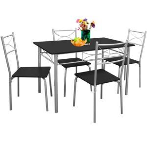 Salle à Manger Table Et 4 Chaises 4 Coloris