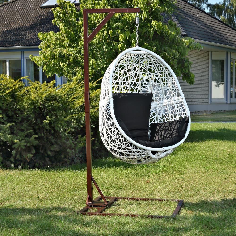 hamac de jardin suspendu support m tal blanc. Black Bedroom Furniture Sets. Home Design Ideas