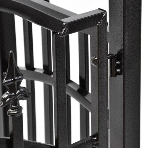 Pergola Noir Avec Portillon En Metal Anti Corrosion