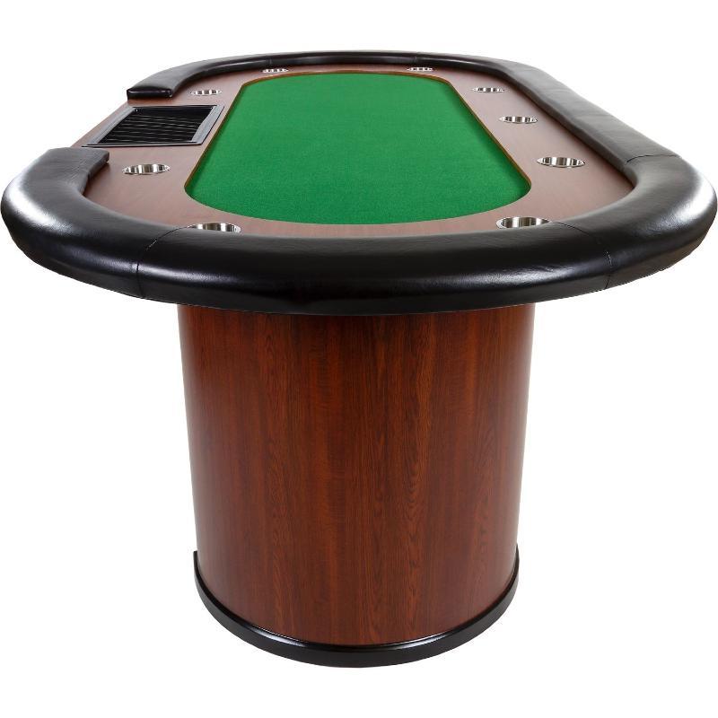Table de poker 3 couleurs de tapis 215 cm 10 personnes for Poker table 6 ou 9