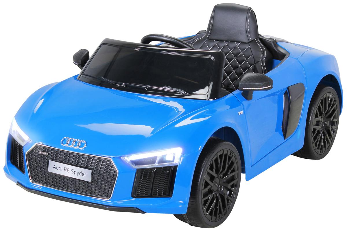voiture lectrique enfant audi r8 spyder bleu. Black Bedroom Furniture Sets. Home Design Ideas