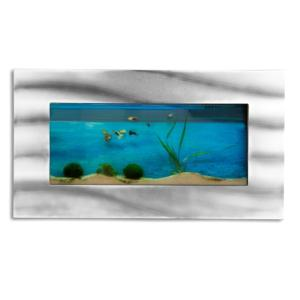 AQUARIUM mural 590x325x110 mm, design, alu/verre