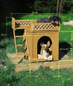 Pour niche pour chien avec terrasse accessoires divers - Fabriquer une niche pour chien avec des palettes ...