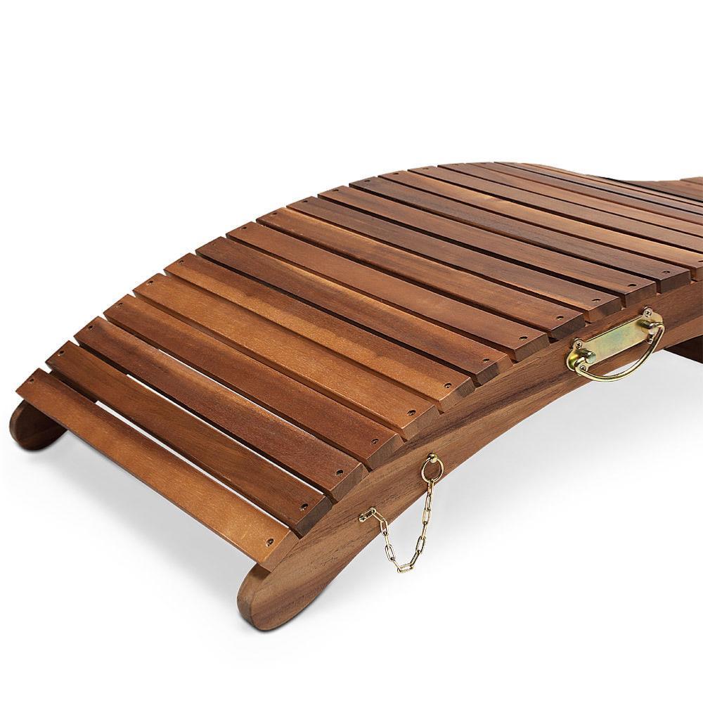 bain de soleil design, pliable, transportable, bois acacia