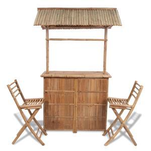 Bar en bambou, type exotique