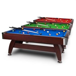 BILLARD PROFESSIONNEL 8Ft, 245 cm, tapis 3 coloris