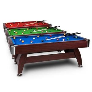 BILLARD type PRO, bois marron, 7 Ft, 3 couleurs de tapis