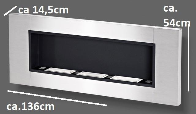 chemine inox design bio ethanol xxl 136 cm blanche. Black Bedroom Furniture Sets. Home Design Ideas