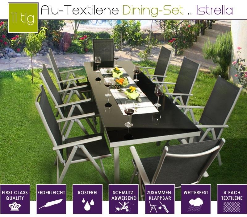 SALON de jardin ALU / textilène modulable