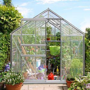 SERRE de jardin aluminium 4.70 m² avec 2 fenêtres
