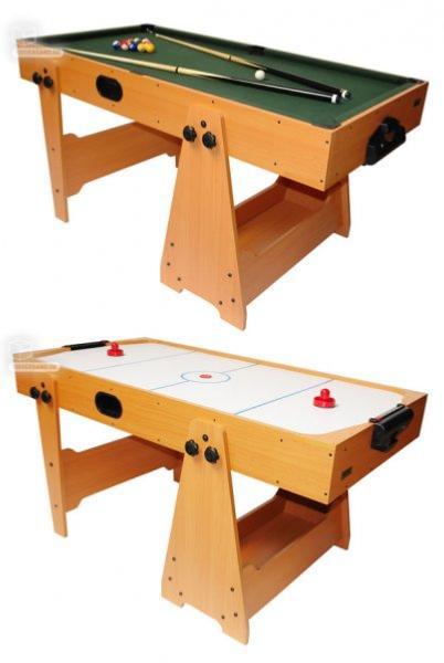 table billard air hockey en bois 2 en 1 pliable. Black Bedroom Furniture Sets. Home Design Ideas