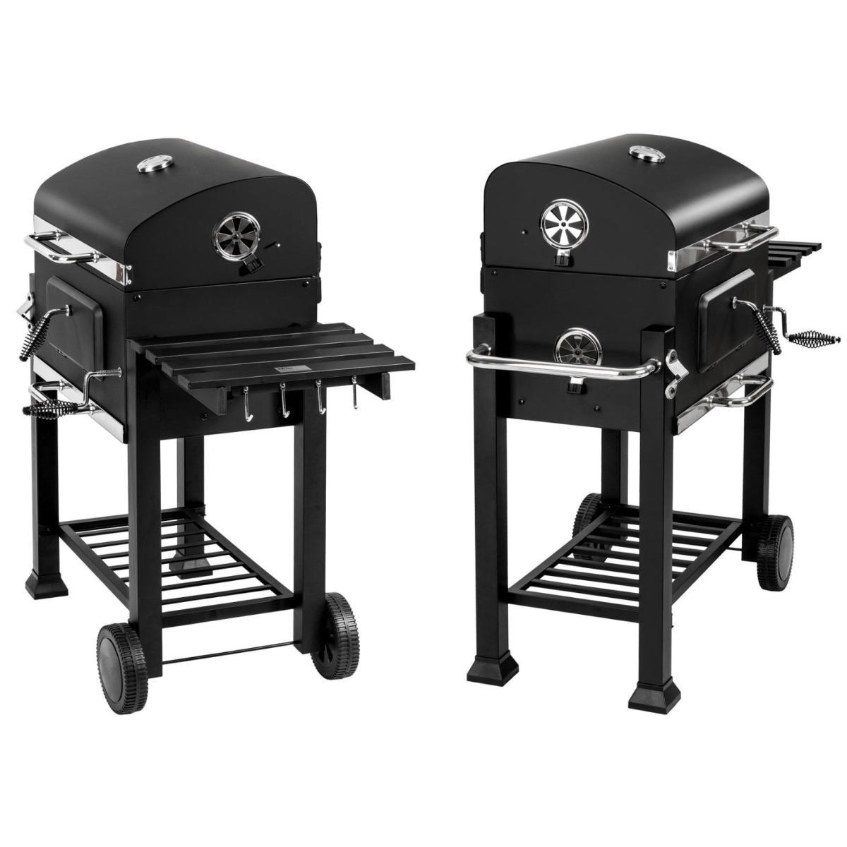 barbecue multifonctions acier inoxydable charbon de bois. Black Bedroom Furniture Sets. Home Design Ideas