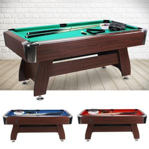BILLARD type PRO 6 Ft, marron, 3 coloris de tapis
