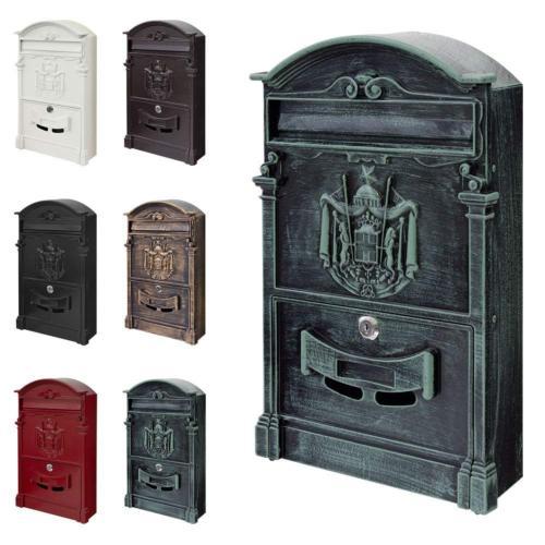 boite aux lettres murale style antique 5 coloris. Black Bedroom Furniture Sets. Home Design Ideas