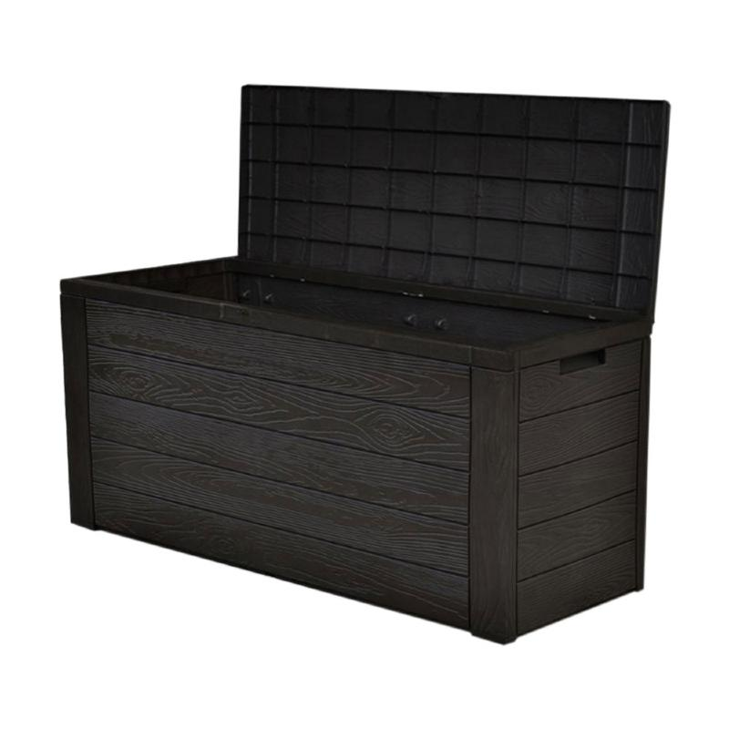 coffre de rangement ext rieur ou int rieur imitation bois. Black Bedroom Furniture Sets. Home Design Ideas