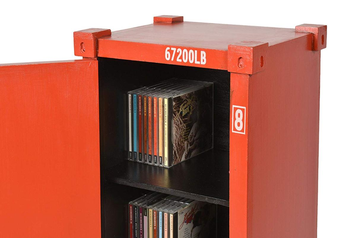 meuble rangement bois style container r tro. Black Bedroom Furniture Sets. Home Design Ideas