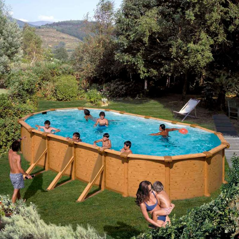 Piscine m d cor bois for Prix piscine complete