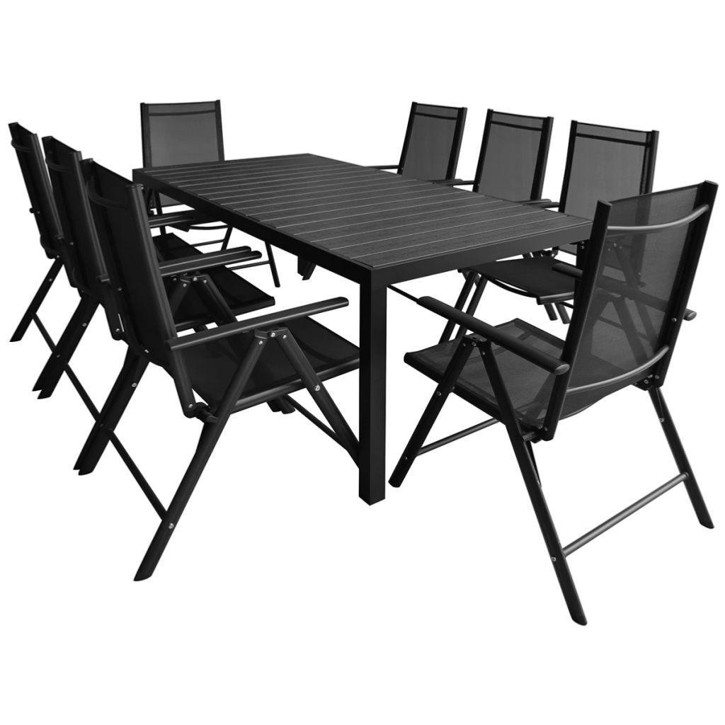 SALON de jardin aluminium/composite pour 8 personnes