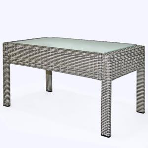 SALON de JARDIN, 4 places en résine tressée avec table basse, 4 coloris