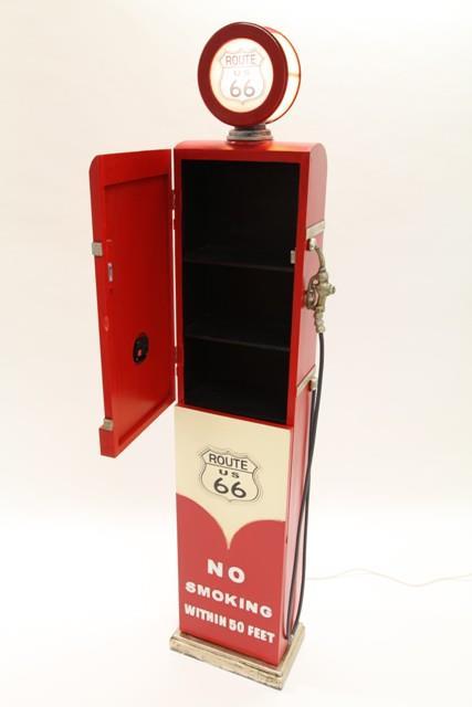 range cd dvd bois 190 cm style pompe essence avec horloge et clairage. Black Bedroom Furniture Sets. Home Design Ideas
