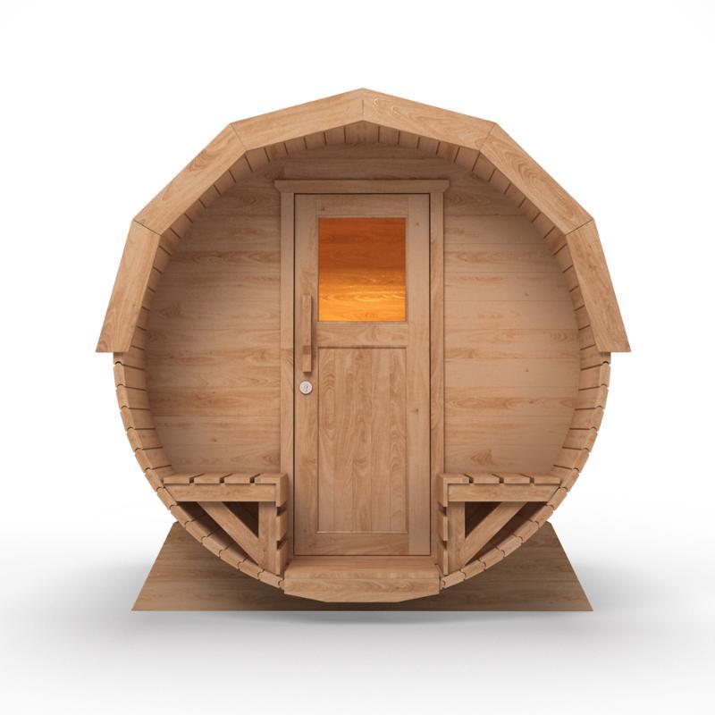Sauna pour ext rieur en pic a massif complet avec four for Sauna exterieur avec poele a bois