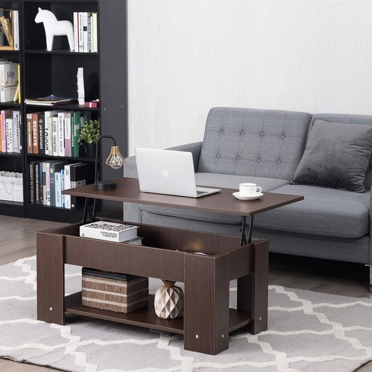 TABLE basse marron, 17 cm, plateau relevable, GALION