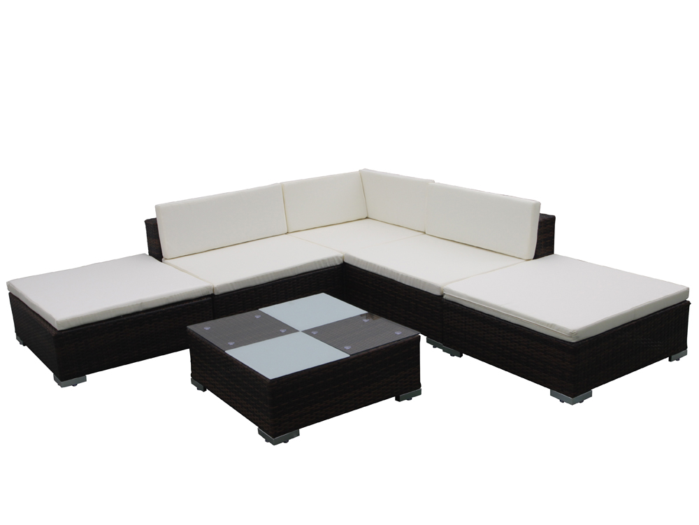 salon de jardin canap r sine tress e aluminium table basse. Black Bedroom Furniture Sets. Home Design Ideas