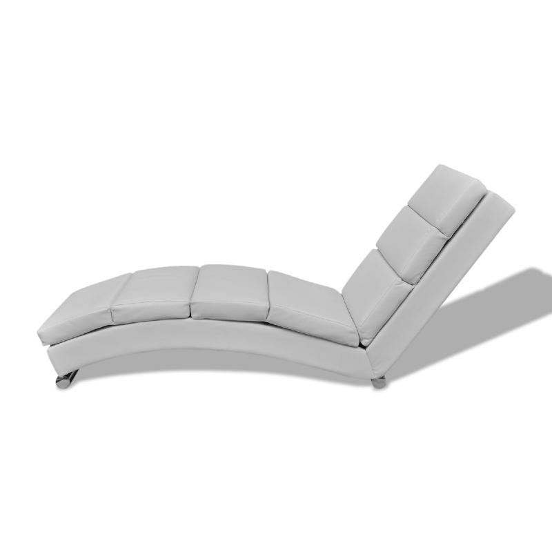 Chaise longue ergonomique cuir blanc for Chaise cuir blanc