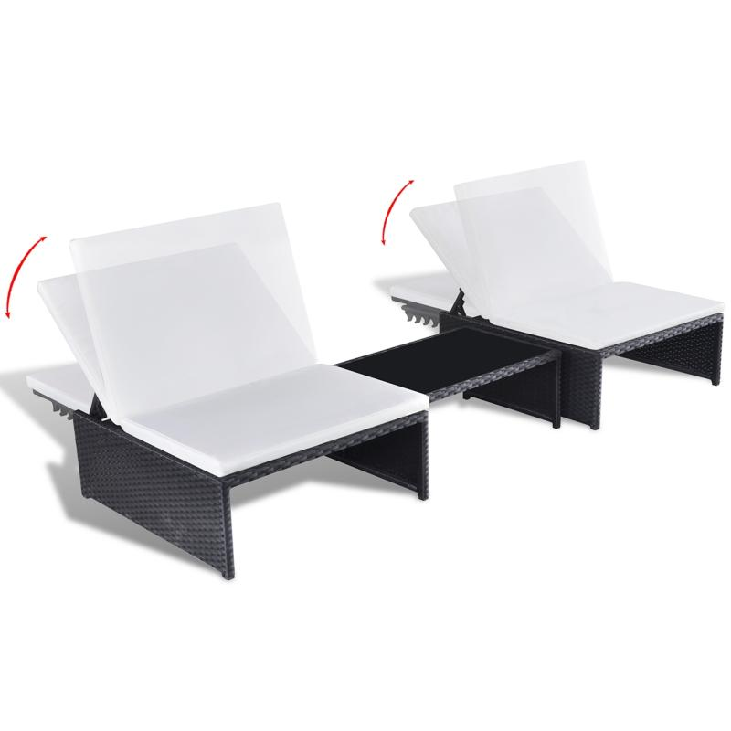 Salon de jardin résine tressée, 2 coloris avec fauteuils modulables