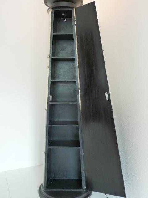 meuble range cd dvd bois style phare avec clairage. Black Bedroom Furniture Sets. Home Design Ideas