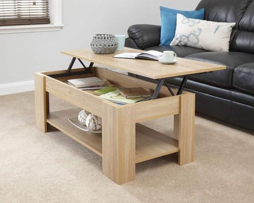 Table Basse 100 Cm Avec Plateau Relevable Rectangle