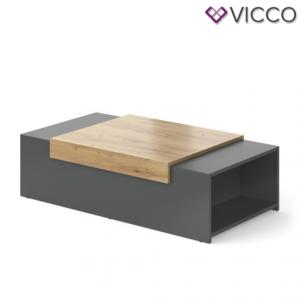 TABLE basse moderne, 110 cm, modèle ESSEN, 2 coloris
