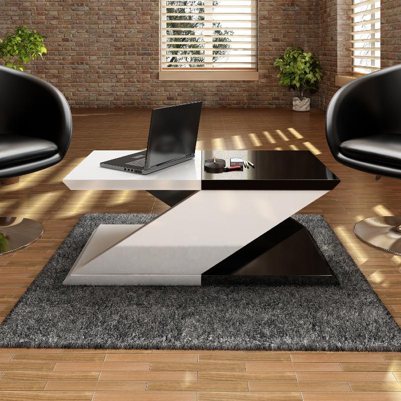 table basse en forme de z mod le zebra. Black Bedroom Furniture Sets. Home Design Ideas