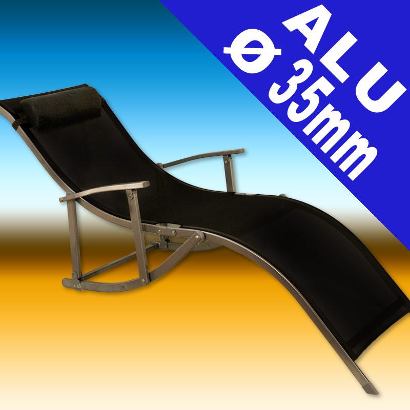 bain de soleil pliable en aluminium. Black Bedroom Furniture Sets. Home Design Ideas