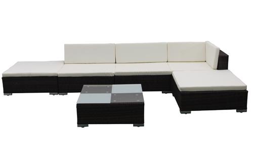 de jardin canapé résine tressée + table