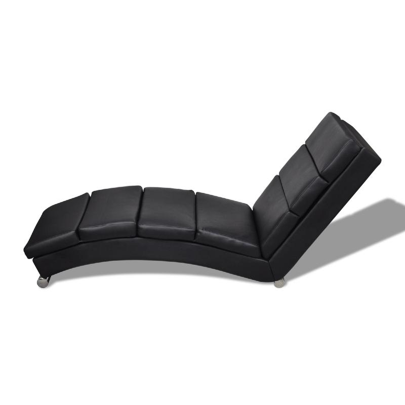 chaise longue ergonomique cuir en noir. Black Bedroom Furniture Sets. Home Design Ideas