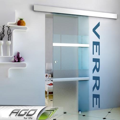 Porte coulissante en verre et aluminium - Porte coulissante aluminium ...