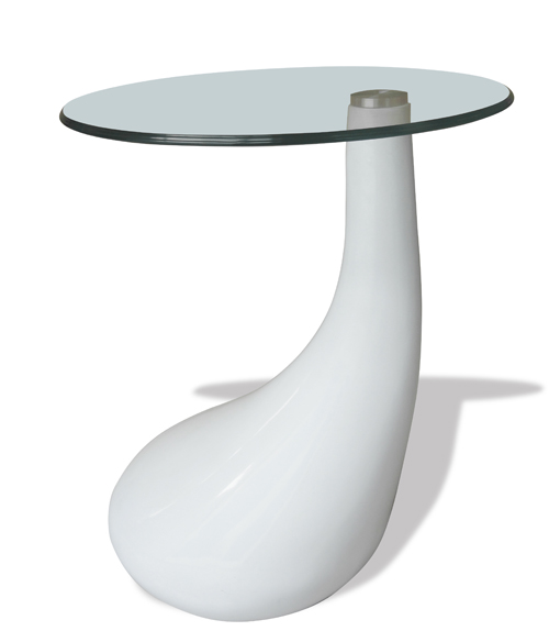 Tables basses de salon verre tremp fibre de verre blanc - Table salon verre trempe ...