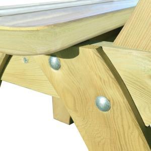 TABLE jardin, avec banc et chaises, type pique-nique
