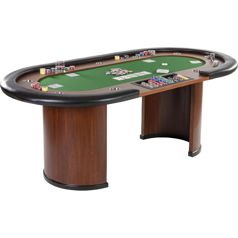 Table de poker 3 couleurs de tapis 215 cm 10 personnes for Table 3 personnes
