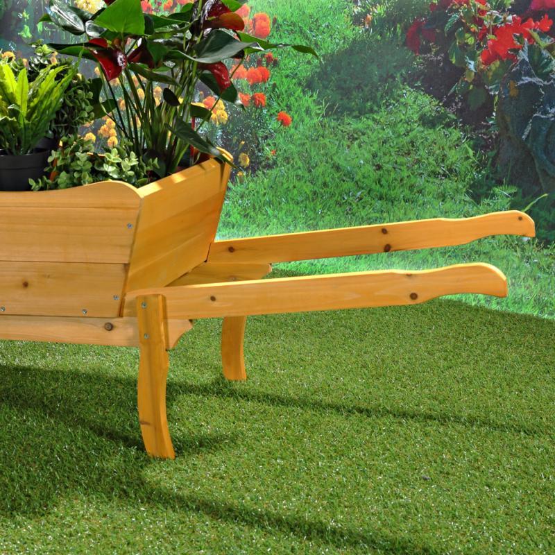 Brouette d co en bois - Brouette en bois de jardin ...