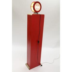 Meuble range bouteilles-style pompe à essence avec éclairage