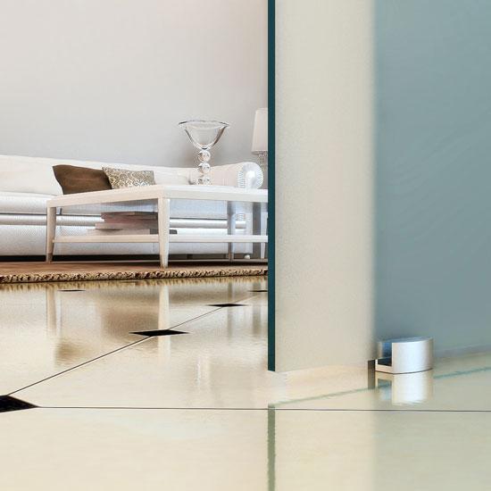 Porte coulissante en verre et aluminium - Rail porte coulissante en verre ...