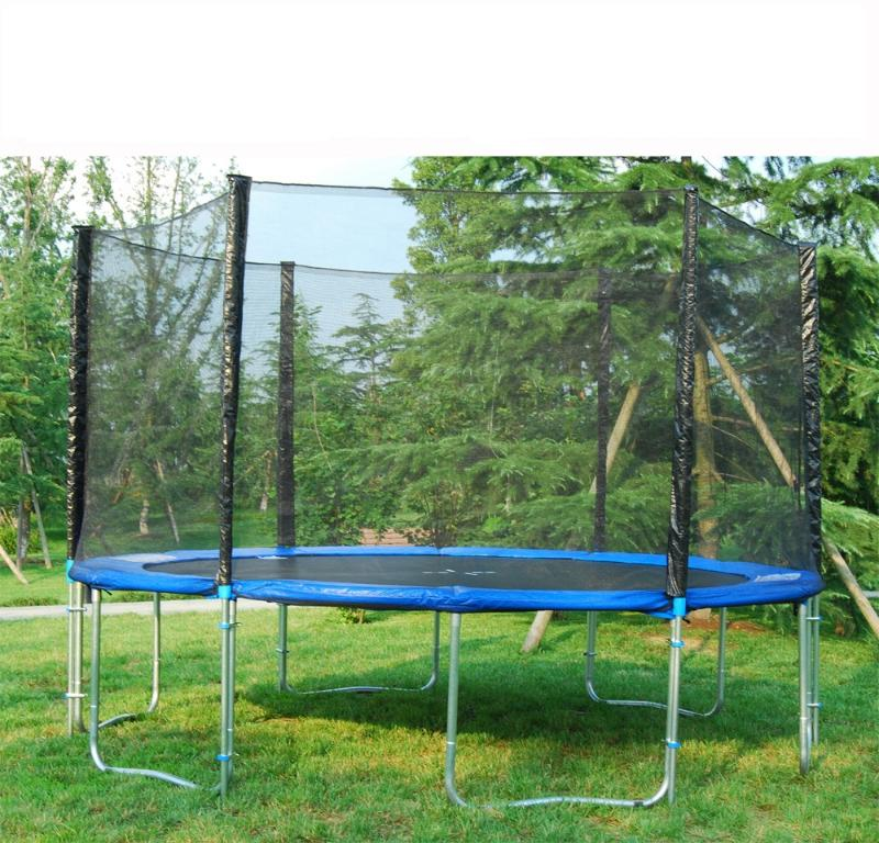 trampoline 400 cm avec filet de securite. Black Bedroom Furniture Sets. Home Design Ideas