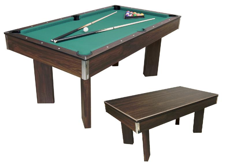 Billard en bois transformable en table - Table de billard transformable ...