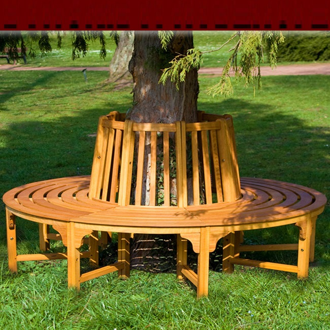 banc de jardin rond circulaire en bois tour d 39 arbre. Black Bedroom Furniture Sets. Home Design Ideas