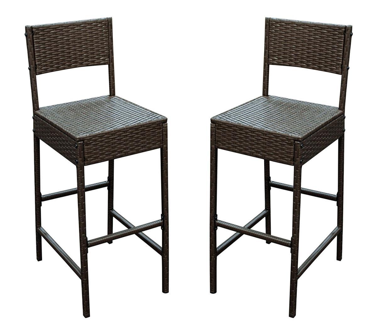 bar de jardin r sine tress e marron et acacia 6 fauteuils. Black Bedroom Furniture Sets. Home Design Ideas