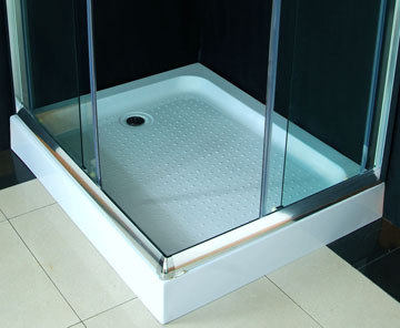 cabine douche angle alu verre et receveur. Black Bedroom Furniture Sets. Home Design Ideas